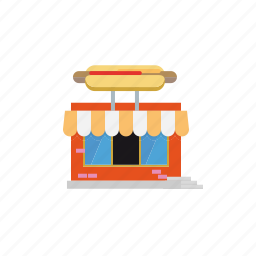 bar, building, city, grill, hot dog, parlor, restaurant icon