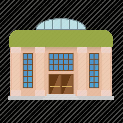 building, city, columns, museum, opera, theatre icon