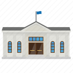 building, city, cityhall, college, columns, museum, school icon