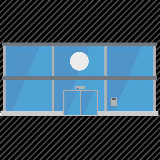 building, city, facade, glass, megastore, shop, store icon