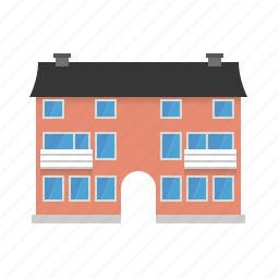 apartment, balconies, building, city, homes, house, tenement icon