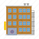apartment, block, building, city, garage, house, tenement icon