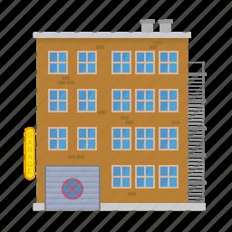 apartment, block, building, city, garage, house, tenement icon