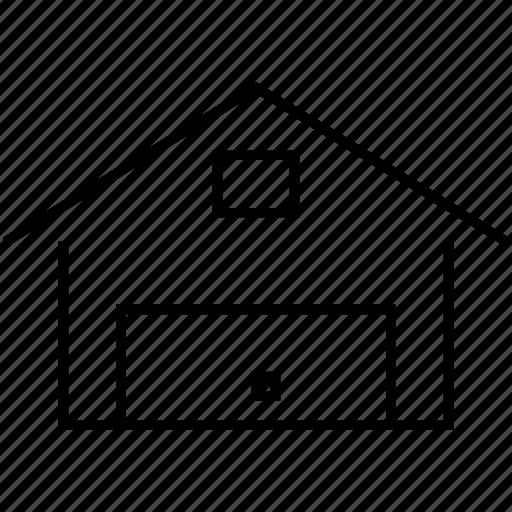 garage, home garage, parking icon