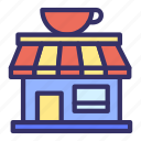 building, cafe, city, cityscape, coffee, shop icon