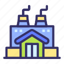 building, city, cityscape, factory, manufacture icon