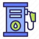 building, city, cityscape, gas, refueling, station icon