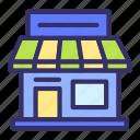 building, city, cityscape, online, shop, store icon