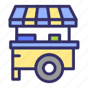 building, cart, city, cityscape, streetfood icon