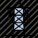 electric, electric pole, electrical, electricity, pole, power, voltage icon