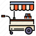 cart, food, food stall, kiosk, shop, stall, stand icon