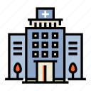 building, cityscape, health, healthcare, hospital, medical, medicine icon
