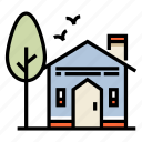 building, home, house, household, residence, residential, townhouse icon