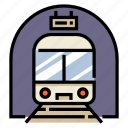 railroad, railway, station, subway, train, transport, transportation icon