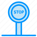 board, journey, stop icon