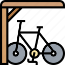 bicycle, parking, public, rack, garage