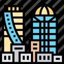 buildings, city, metropolis, skyscraper, downtown