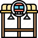 bus, stop, shelter, public, transport