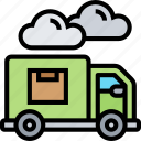 delivery, truck, courier, mailman, logistics