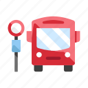 bus, bus stop, sign, station, stop, symbol, transportation icon