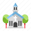 building, catholic, chapel, christian, christianity, church, religion icon