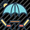 barbecue, camp, excursion, holiday, picnic, table, umbrella