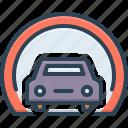 automobile, esoteric, parking, subterranean, subterraneous, ulterior, underground