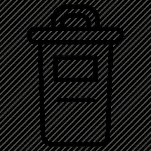 control, document, dustbin, recycling, remove, rubbish, waste icon