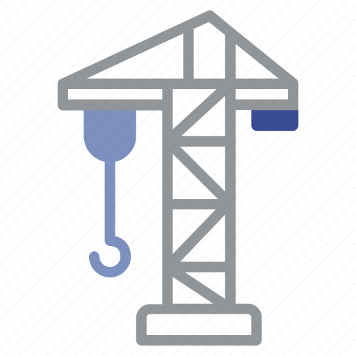 construction, crane, diet, exercise, gym, health, hook icon