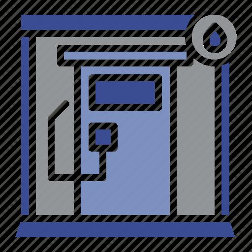 architecture, building, door, filling station, hotel, interior, petrol pump icon
