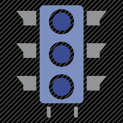 connection, gadget, satellite, signaln, technology, traffic signal, wireless icon