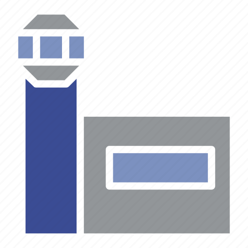 airport, building, business, construction, office, property, tool icon