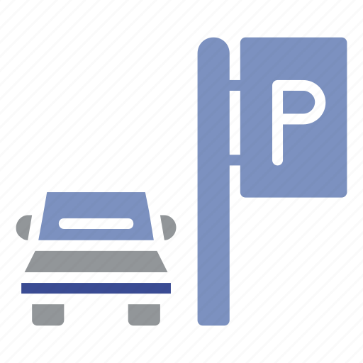 forest, holiday, park, parking, parking area, road, travel icon