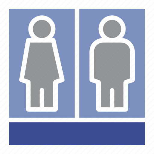business, female, human, man, people, profile, toilets icon