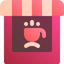 bar, building, cafe, coffee, cup icon