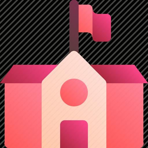 architecture, building, learn, school, study icon