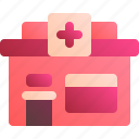 building, clinic, health, hospital, medical icon