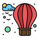 hot, balloon, air icon