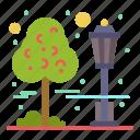 city, cityscape, park, tree