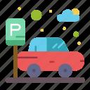 car, parking, transport