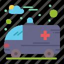 ambulance, hospital, car icon