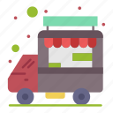 car, food, shop, stall, truck icon