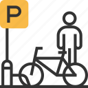 bicycle, bike, parking, traffic, transport, transportation icon