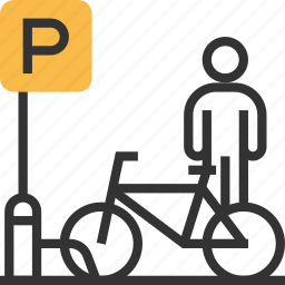 bicycle, bike, parking, traffic, transport, transportation icon