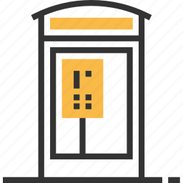 booth, communication, connection, phone, telephone icon