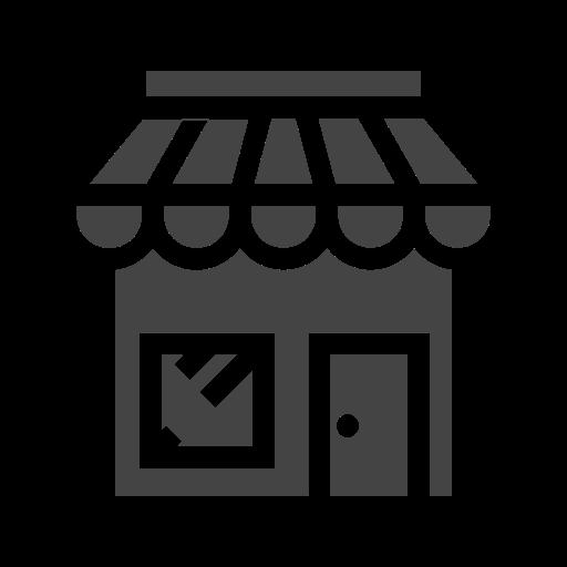 city, elements, facilities, market, public, shop, town icon
