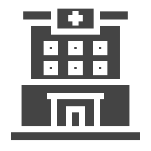 city, clinic, elements, facilities, hospital, public, town icon