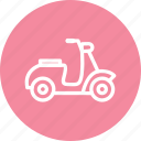 bike, cycle, transport, vespa