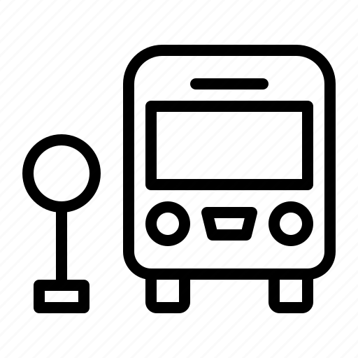 bus, city, stop, transportation icon