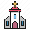 christian, church, cross, faith, god, religion icon